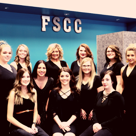group shot of the entire cosmetology class