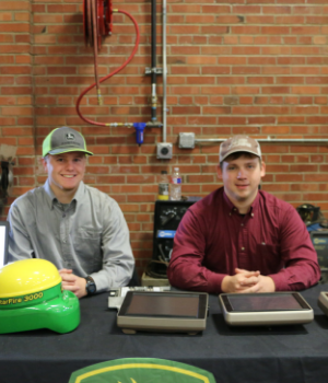 John Deere students smiling for the camera