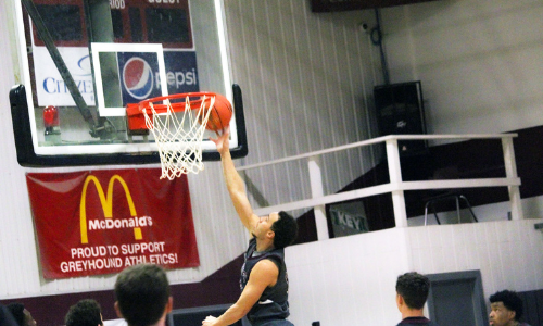 picture of a student doing a layup