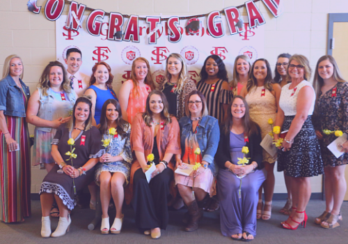 group picture of the nursing students of 2019