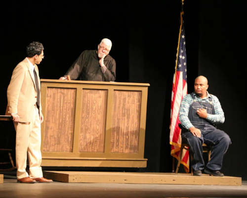 """courtroom scene of the play """"To Kill a Mockingbird"""""""