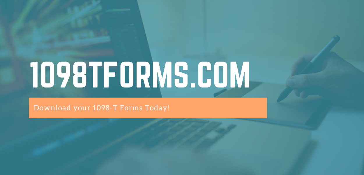a faded picture of someone working on a laptop with 1098Tforms.com written across the middle