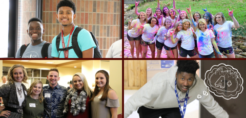 a collage of pictures of FSCC students