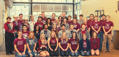 group picture of several FSCC students lined up for a picture in Ellis Hall